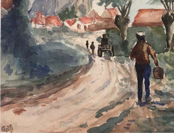 Towns Original Art - Le Moulin, Cecile, C.1930